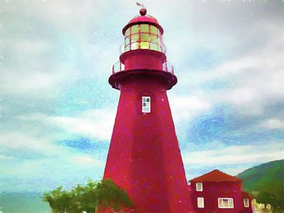 Digital Art - La Martre Lighthouse by Susan Lafleur