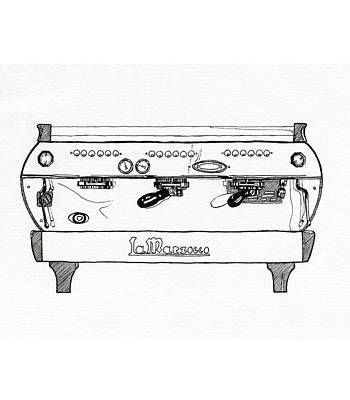 Espresso Drawing - La Marzocco Gb5 by Peter Pullen