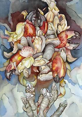 Bekman Wall Art - Painting - La Mer En Rouge by Liduine Bekman