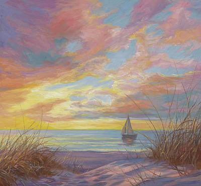 Painting - La Mer by Lucie Bilodeau
