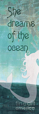 La Mer Mermaid 1 Art Print by Debbie DeWitt