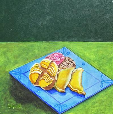 Painting - La Merienda II by Manny Chapa