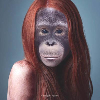 Orangutan Digital Art - La Mona Lisa by Nestor Navarro