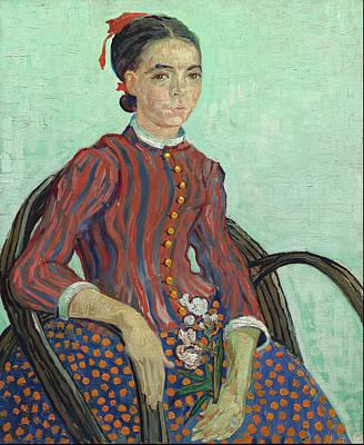 Grate Painting - La Mousme 1888 by Vincent Van Gogh