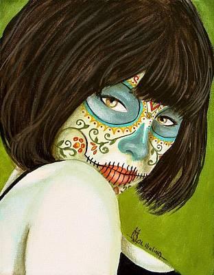 La Muerte En Verde Art Print