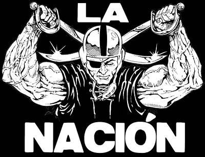 Oakland Raiders Drawing - La Nacion by Brian Child