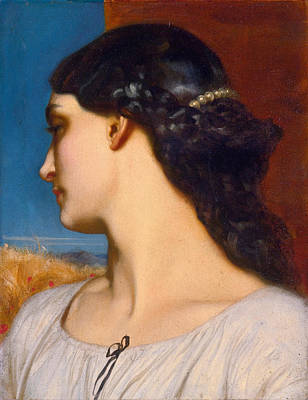 Frederic Leighton Painting - La Nanna. Sunny Hours by Frederic Leighton