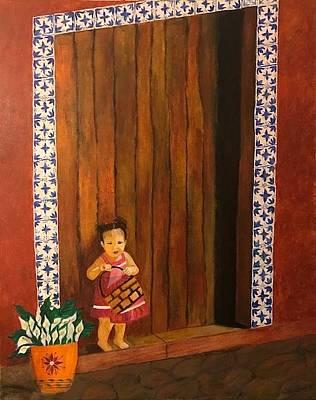 Painting - La Nina Olivia by Thelma Delgado