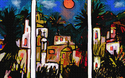Abstract Expressionism Drawing - La Noche Del Tigre Triptych  by Paul Sutcliffe