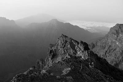 Photograph - La Palma Canary Islands Monochrome by Marek Stepan