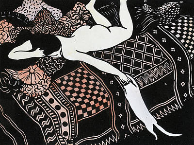 Black Sex Drawing - La Paresse by Felix Edouard Vallotton