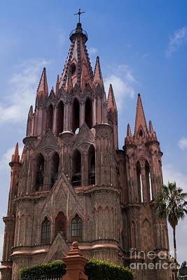 La Parroquia De San Miguel Arcangel In San Miguel Mexico Art Print