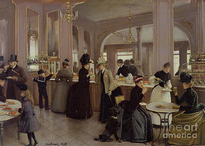 Pouring Painting - La Patisserie by Jean Beraud