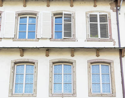 Photograph - La Petite France Windows by Teresa Mucha