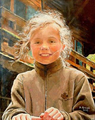 Chamonix Painting - La Petite Montagnarde by Danielle Arnal