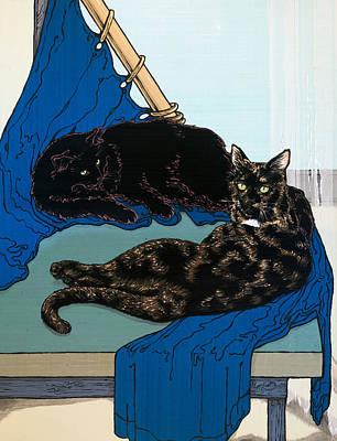 Painting - La Petite Odalisque by A Ka