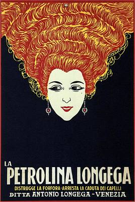 Mixed Media - La Petrolina Longega - Venezia, Italy - Vintage Advertising Poster by Studio Grafiikka