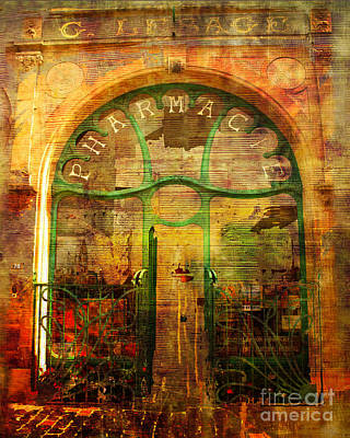 Digital Art - La Pharmacie 2016 by Kathryn Strick