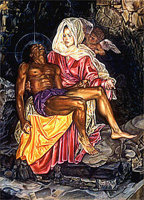 Painting - La Pieta by Buena Johnson