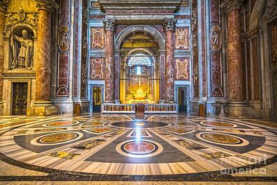 Photograph - La Pieta Di Michelangelo - Rome - Italy by Luciano Mortula