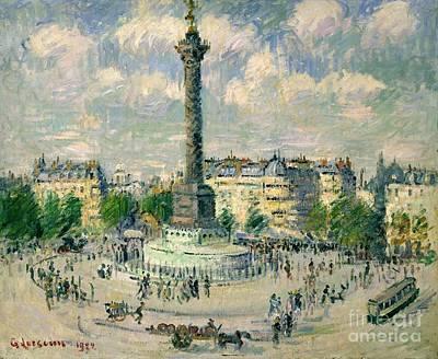 La Place De La Bastille Art Print by Celestial Images