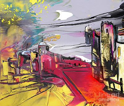 Painting - La Place Rouge Espagnole by Miki De Goodaboom