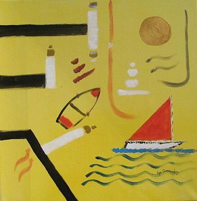 La Playa  Art Print by Roger Cummiskey