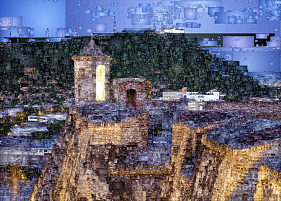 Digital Art - La Popa Hill Convent And Saint Philip Castle, Cartagena Colombia by Rafael Salazar