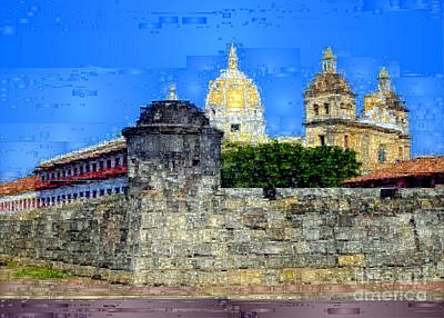 Digital Art - La Popa Hill Convent And Saint Philip Castle, Cartagena De Indi by Rafael Salazar