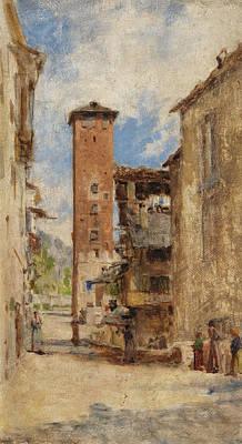 Italian Landscape Painting - La Portela by Bartolomeo Bezzi