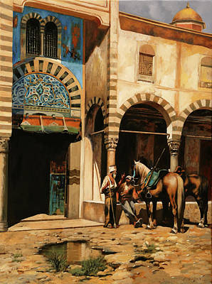 Painting Royalty Free Images - La Pozzanghera Royalty-Free Image by Guido Borelli