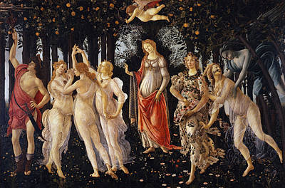 Moral Painting - La Primavera, Spring by Sandro Botticelli