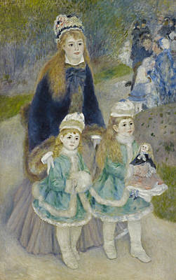 Painting - La Promenade by Auguste Renoir