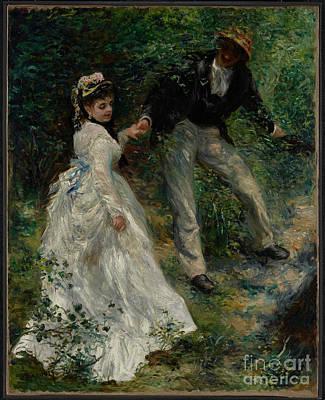 Wwi Painting - La Promenade By Pierre-auguste Renoir  by Esoterica Art Agency