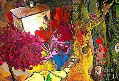 Provence Mixed Media - La Provence 15 by Miki De Goodaboom