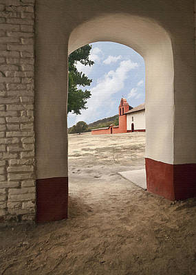 Digital Art - La Purisima Arch by Sharon Foster