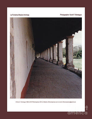 Photograph - La Purisima Mission Archway by Kevin Montague