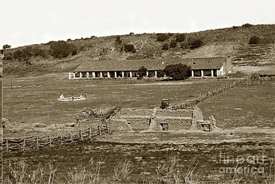 Photograph - La Purisima Mission Near Lompoc Circa 1880 by California Views Mr Pat Hathaway Archives