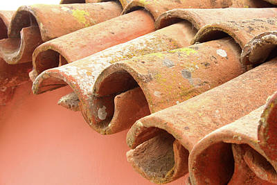 Photograph - La Purisima Mission Roof Tiles by Art Block Collections