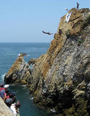 Photograph - La Quebrada Cliff Divers 3 by Tatiana Travelways