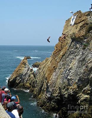 Photograph - La Quebrada Cliff Divers 4 by Tatiana Travelways