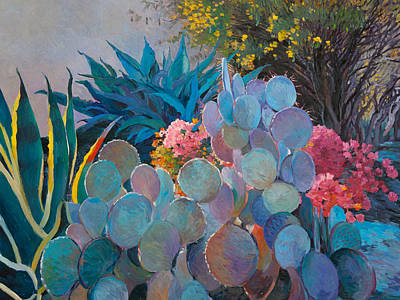 Painting - La Quinta Backyard by Judith Barath