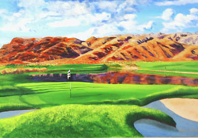 Painting - La Quinta Golf Resort by Bill Houghton