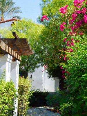 Digital Art - La Quinta Resort Walkway Impressions - Three by Glenn McCarthy Art and Photography