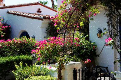 Digital Art - La Quinta Resort Walkway Impressions - Two by Glenn McCarthy Art and Photography