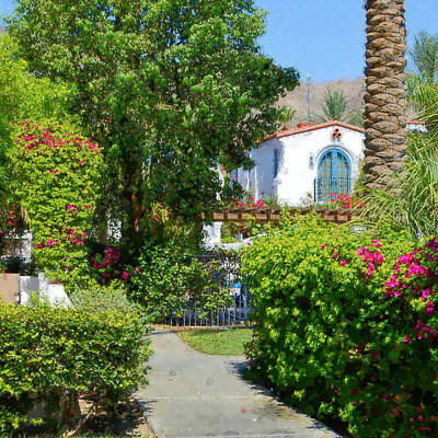 Digital Art - La Quinta Resort Walkway Impressions - One by Glenn McCarthy Art and Photography