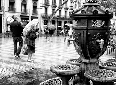 Photograph - La Rambla Drinking Fountain Barcelona by John Rizzuto