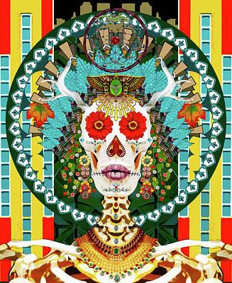 Digital Art - La Reina De Los Muertos by Susan Vineyard