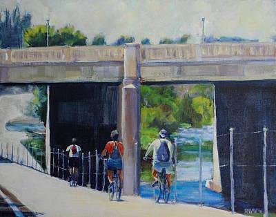 La River Bikepath Art Print