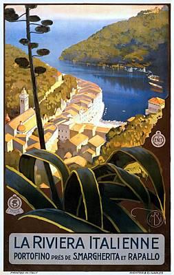 La Riviera Italienne, Travel Poster For Enit, Ca. 1920 Art Print